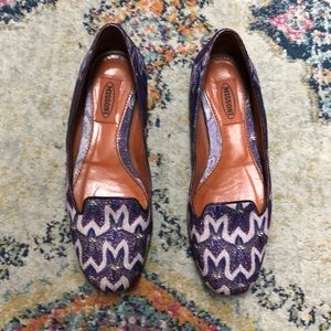 Missoni purple flats size 6